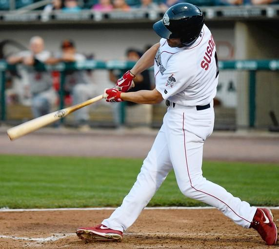 Steve Susdorf is adapting to a new role with the IronPigs this year as a reserve and pinch hitter.
