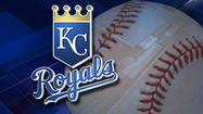Robbie Ross hit David Lough with a pitch with the bases loaded to score the go-ahead run in the 10th inning Sunday and the Kansas City Royals beat the Texas Rangers 4-1 Saturday.