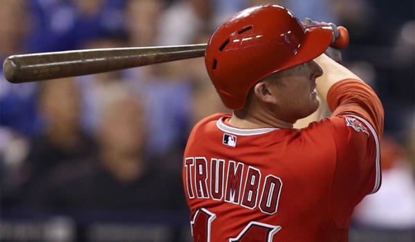 The Angels' Mark Trumbo is a 6-foot-4, 235-pounder who is breaking the mold of the traditional utility player.