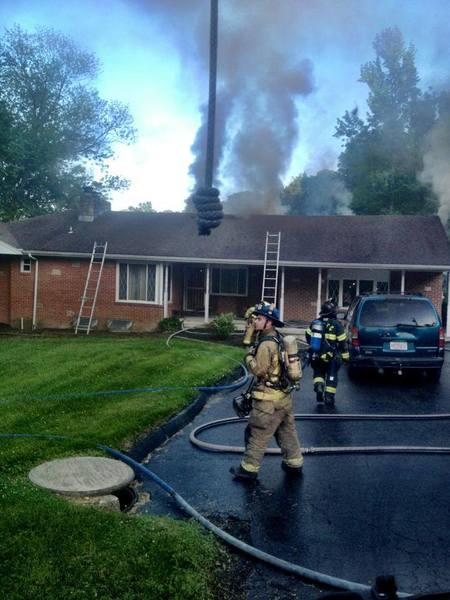 Fire departments from Baltimore and Harford counties responded to a house fire Saturday evening in the Kingsville area.