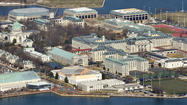 A former instructor at the Naval Academy has been found not guilty of aggravated sexual assault in an alleged attack on a female midshipman two years ago, an academy spokeswoman said Sunday.