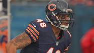 Chicago Bears fullback Evan Rodriguez has issued an apology following his arrest early morning on charges of driving under the influence.