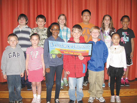 Front row, from left, Jonathan Stotelmyer, Taylor Baumbaugh, Grace Fleetwood, Ethan Caudo, C.J. Nicley and Becky Jiang. Back row, David Richardson, Kash Krieman, Hannah Nance, Jason Li, Josie Allshouse and Gabrielle Grantham-Medley.