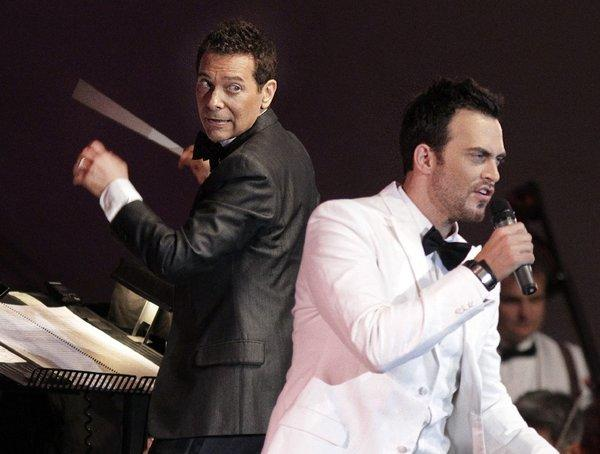 Michael Feinstein conducts the Pasadena Pops Saturday night at the L.A. County Arboretum, where the guest singers include Cheyenne Jackson.