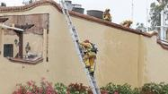 One firefighter was injured after a small fire broke out Saturday afternoon at Mozambique in Laguna Beach, Laguna Beach Fire Department Chief Jeff LaTendresse said.