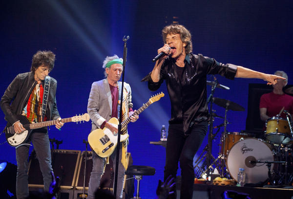 The Rolling Stones perform at the United Center on Friday.