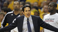 "Despite returning to South Florida in the wee hours Sunday morning and clearly substituting sleep for game-tape study of one of the Heat's worst playoff performances of his five-year tenure as head coach, a surprisingly upbeat Erik Spoelstra said it was up to him to restore confidence to two of his ""Big 3"" stars."