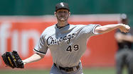 OAKLAND, Calif. — The only relief provided Sunday to <strong>Chris Sale</strong> came when his streak of consecutive scoreless innings ended at 28.