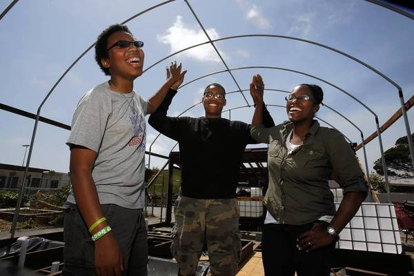 Students are creating an aquaponic garden to make their school a hub for healthful food.