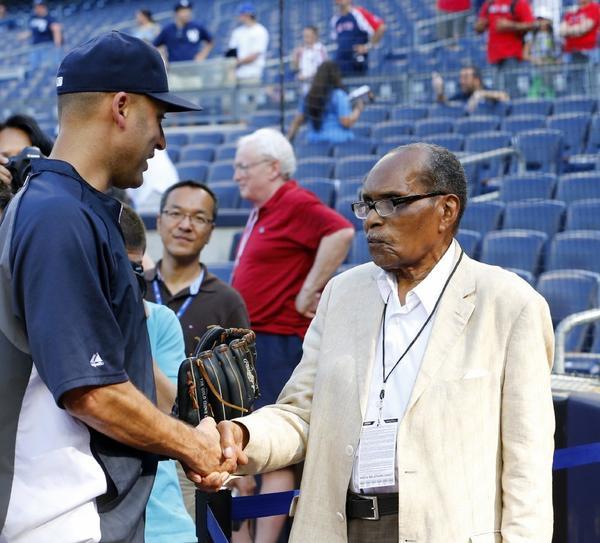 Bernando LaPallo meets Yankees captain Derek Jeter.