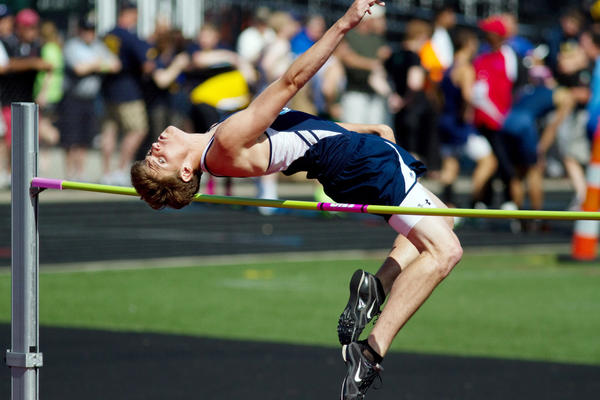 Petoskey senior Louis Lamberti captured his second-straight Michigan High School Athletic Association Division II boys high jump state championship Saturday at Grand Rapids Forest Hills Eastern High School with a winning jump of 6 feet, 7 inches.