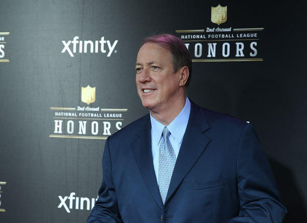 Buffalo Bills former quarterback Jim Kelly on the red carpet prior to the Super Bowl XLVII NFL Honors award show at Mahalia Jackson Theater.