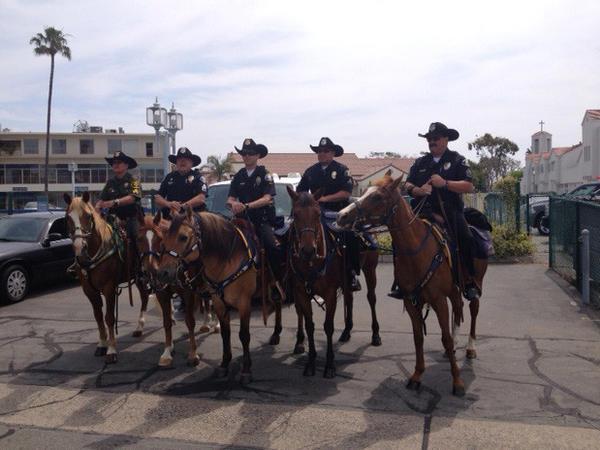 The Orange County Regional Mounted Enforcement Unit patrol on Saturday.