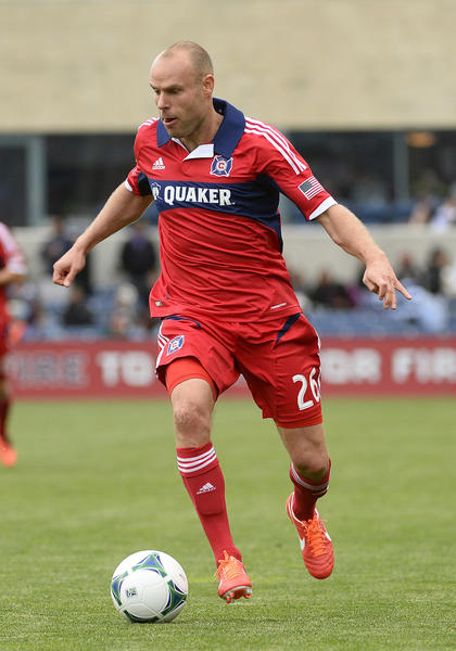 Chicago Fire midfielder Joel Lindpere.