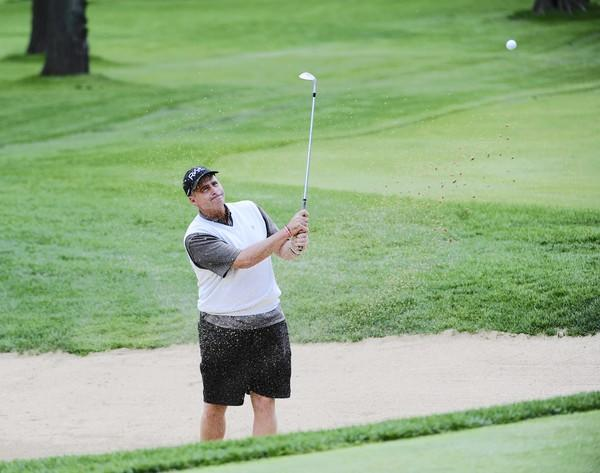Rocco Mediate plays golf at the North Shore Country Club in Glenview Monday, May 20, 2013. Mediate will play in the Encompass Championship Pro-Am at the club June 17-23.