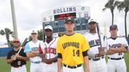 From left, Erik Lunde of DeLand, Ben Richardson of College Park, Darryl Knight of Orlando, Trey Norris of Leesburg, Rock Rucker of Sanford and Evan Incinelli of Winter Park are some of the top players in the Florida Collegiate Summer League. (George Skene, Orlando Sentinel)