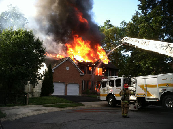 Two-alarm fire at 1894 Estate Court