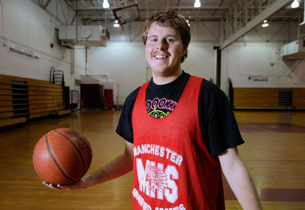 Andy Zownir has been one of the most active members of the Manchester High Unified Sports program.