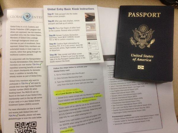 You need a passport to apply for Global Entry (of course), but it also allows you, if you're accepted, to get through domestic security at select airports more easily.