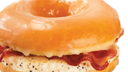 "Coming Friday to<a href=""https://www.dunkindonuts.com/dunkindonuts/en.html"" target=""_blank""> Dunkin' Donuts</a> menu boards: Glazed doughnut breakfast sandwiches."