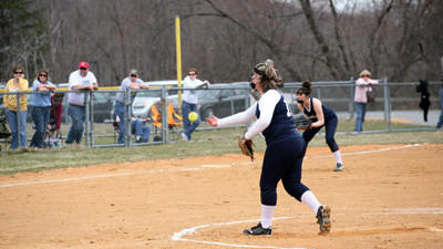 Abby Simmons of Bishop Carroll is the starting pitcher for the Lady Huskies softball team.