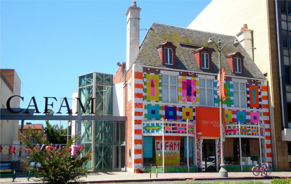 Art is moving yarn bombing la for Craft and folk art museum