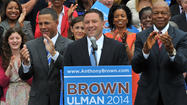 Lt. Gov. Anthony G. Brown named Howard County Executive Ken Ulman as his running mate Monday, establishing the first declared ticket in the 2014 Maryland governor's race.