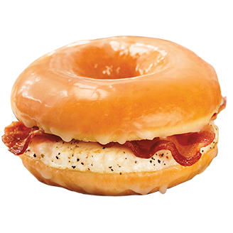 Dunkin' Donuts will launch a glazed doughnut breakfast sandwich Friday.