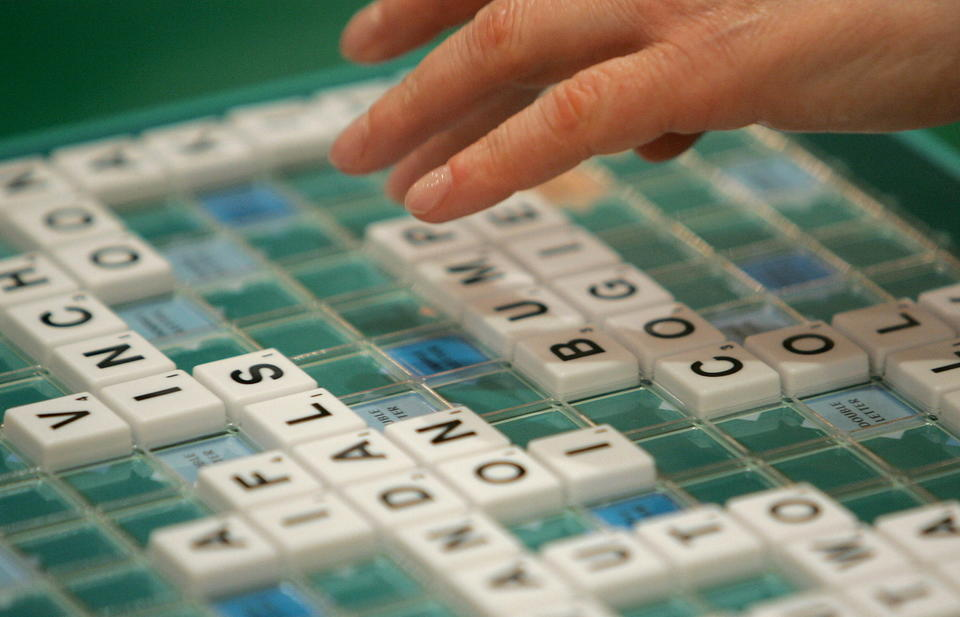 A competitor takes part in the World Scrabble Championships in London November 17, 2005.