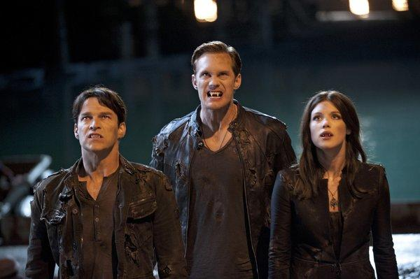 "A scene from the fifth season of the HBO TV series ""True Blood,"" which debuted atop the DVD sales chart"