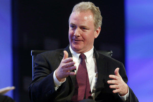 Rep. Chris Van Hollen (D-Md.), the top Democrat on the House Budget Committee, speaks about the budget at the 2013 Fiscal Summit in Washington on May 7.