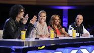 "Howard Stern; left; Heidi Klum; Mel B and Howie Mandel in ""America's Got Talent"""