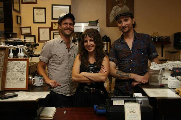 The owners of Cafe Mustache