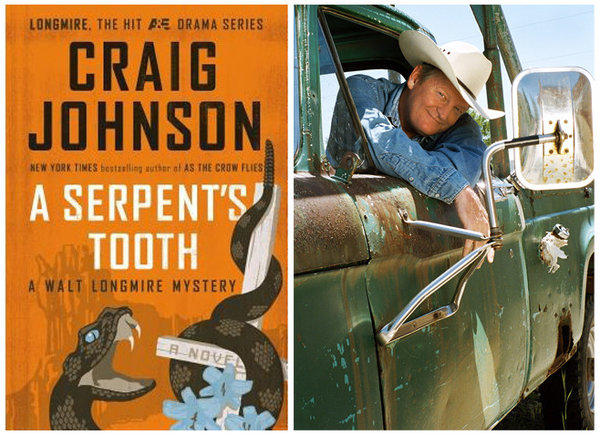 """The cover of """"A Serpent's Tooth"""" and author Craig Johnson."""
