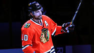 <strong>Blackhawks' Patrick Sharp</strong>