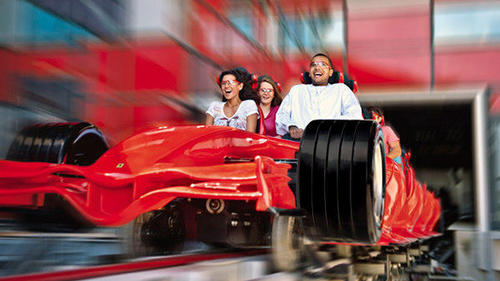 The Ferrari World theme park in Abu Dhabi features the 149-mph Formula Rossa, the world's fastest roller coaster.