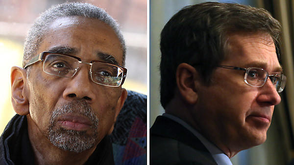 Rep. Bobby Rush, left, announced he'll meet with Sen. Mark Kirk to talk about Kirk's proposal for mass arrests of Chicago's Gangster Disciples.