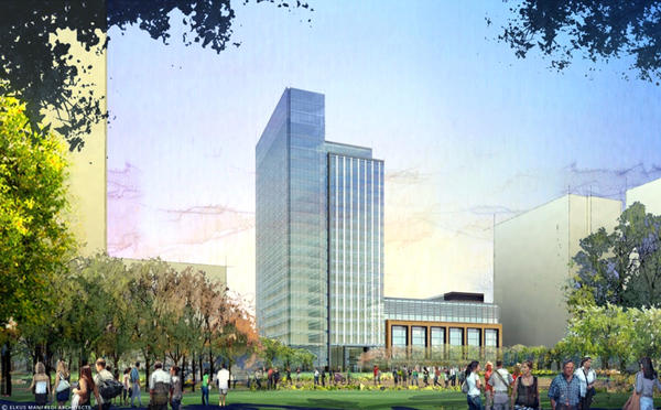A rendering of Exelon Corp.'s regional headquarters at Harbor Point in Baltimore.