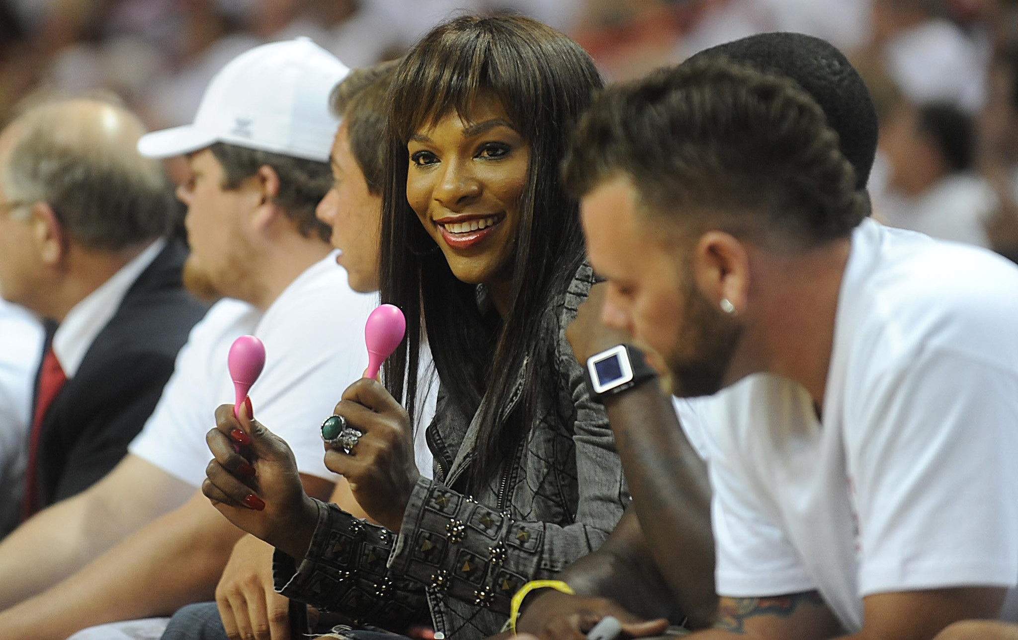 Celebs spotted at Miami Heat games - Serena Williams
