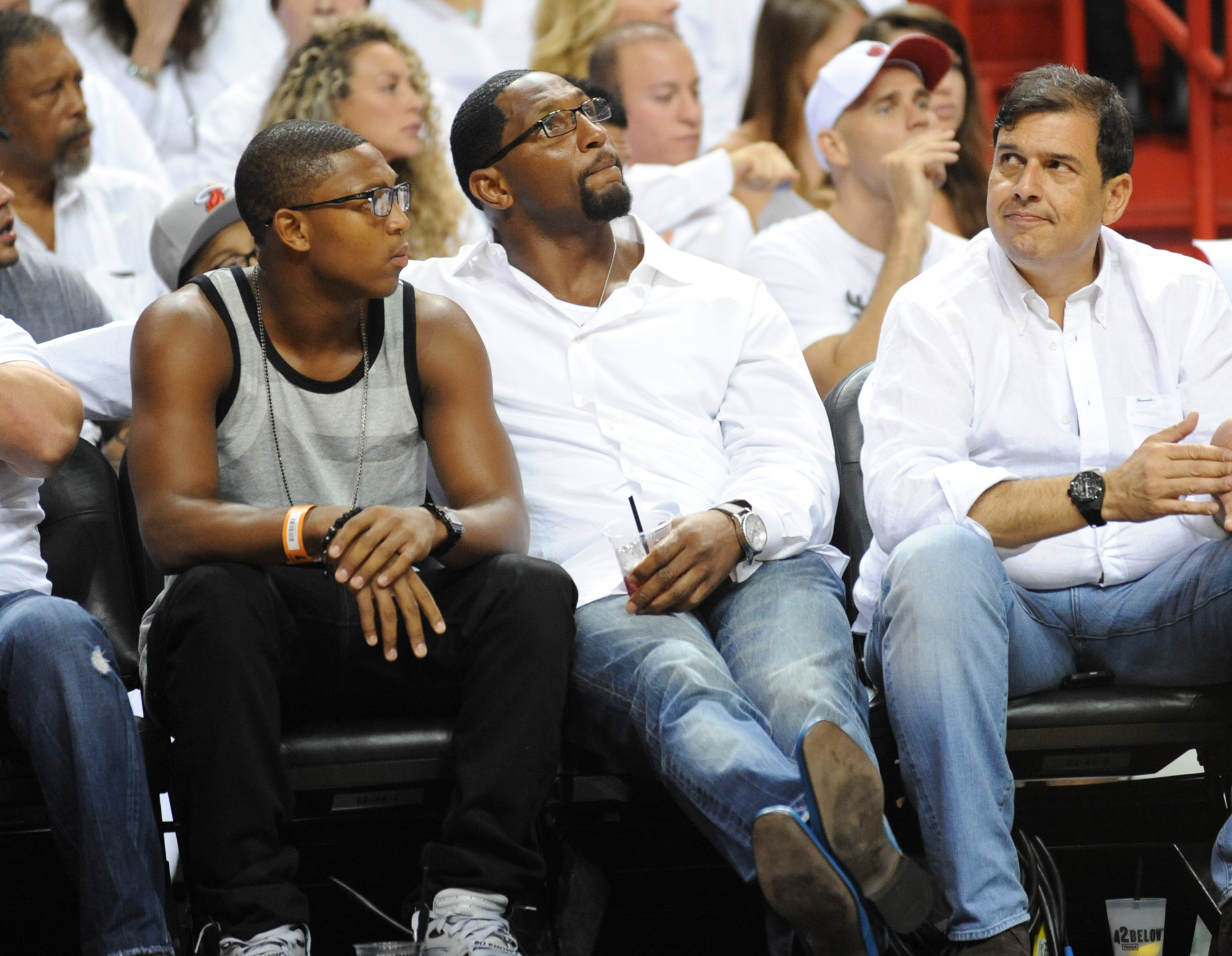 Celebs spotted at Miami Heat games - Ray Lewis
