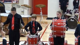 Student redeems himself after cymbal breaks during National Anthem