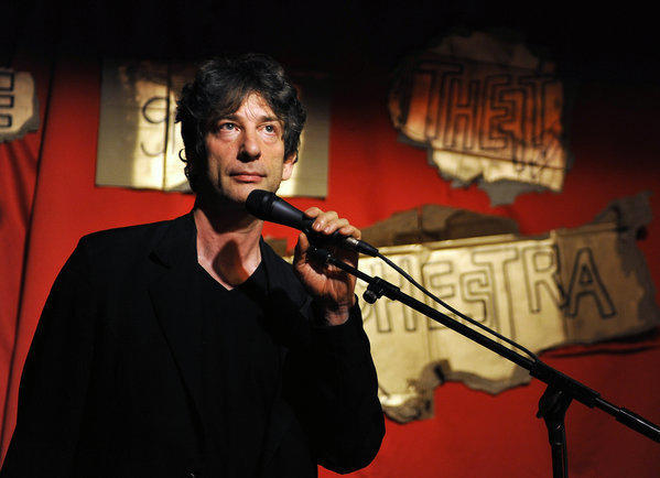 "Neil Gaimann performs at a 2012 event in Brooklyn. His 2013 ""Make Good Art"" commencement speech is now a book."