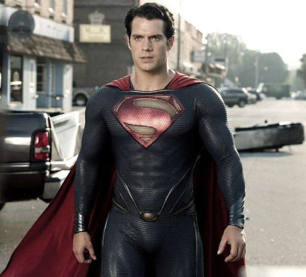 "Henry Cavill looks pretty trim in ""Man of Steel,"" so a cheeseburger with extra bacon is a dubious tie-in."