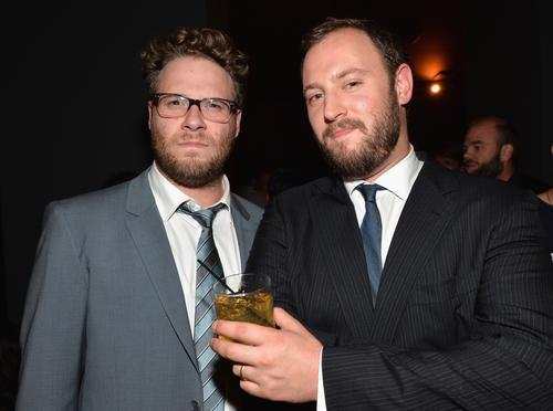 Seth Rogen, left, and writer-director Evan Goldberg.