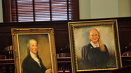 Portraits of Somerset County judges from different centuries will adorn walls in the Somerset County Courthouse today.
