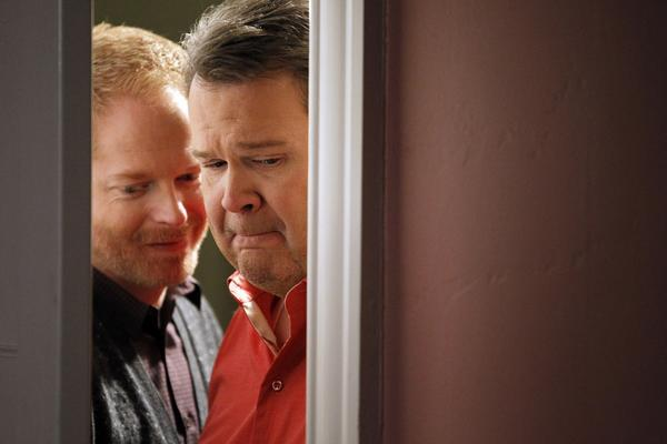 """Jesse Tyler Ferguson, left, and Eric Stonestreet of """"Modern Family"""" are expected to get supporting actor nominations. Maybe Lily could choose."""