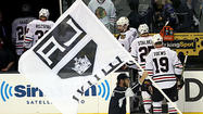 LOS ANGELES — The momentum the Blackhawks carried with them from Chicago to Los Angeles came to an abrupt halt on the Kings' first shot.