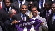 Obama Hosts Super Bowl Winning Ravens
