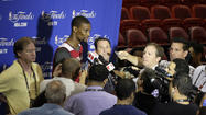 Wednesday was about talking the talk at the NBA Finals, with the Miami Heat and San Antonio Spurs experiencing media day in advance of Thursday's 9 p.m. opener of the best-of-seven series at AmericanAirlines Arena.