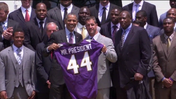 Obama hosts Super Bowl winning Ravens [Video]